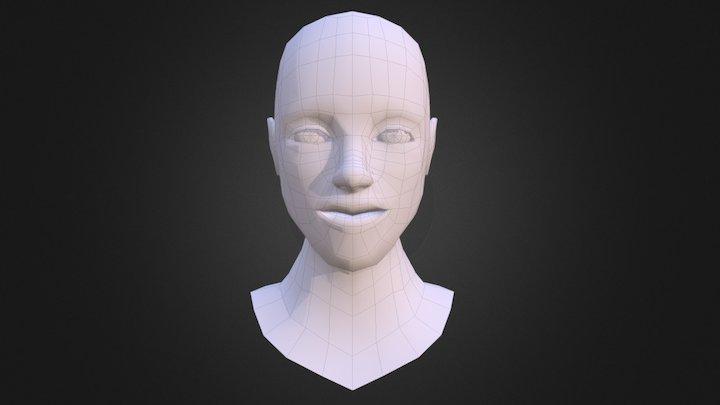 Male Head Mesh 3D Model