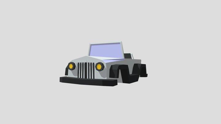 Lowpoly JEEP model 2 3D Model