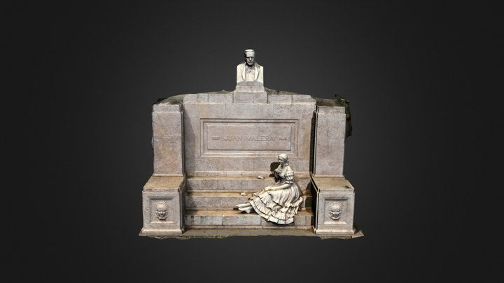 Juan Valera, monument Madrid (Spain) 3D Model