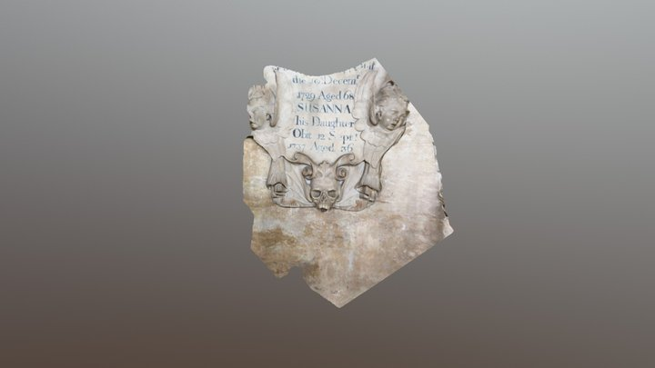 Funereal plaque c1737,  Bristol Cathedral 3D Model