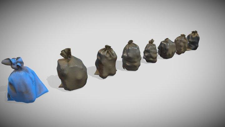 Garbage dusty bags 3D Model