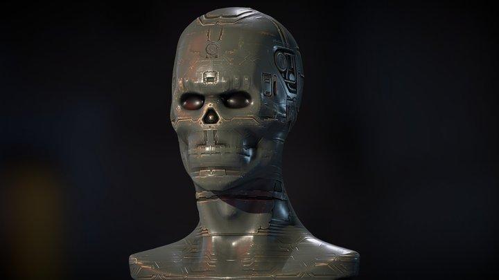 Sci Fi Head Baking Normal 3D Model