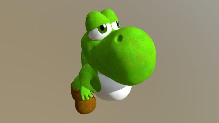 Zbrush Baby Yoshi 3D Model