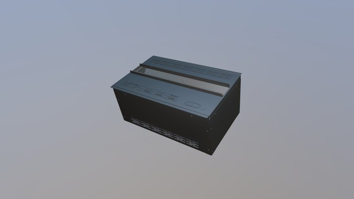 AWA 20-50 Cheminée Electrique Vapeur d'Eau AFIRE 3D Model