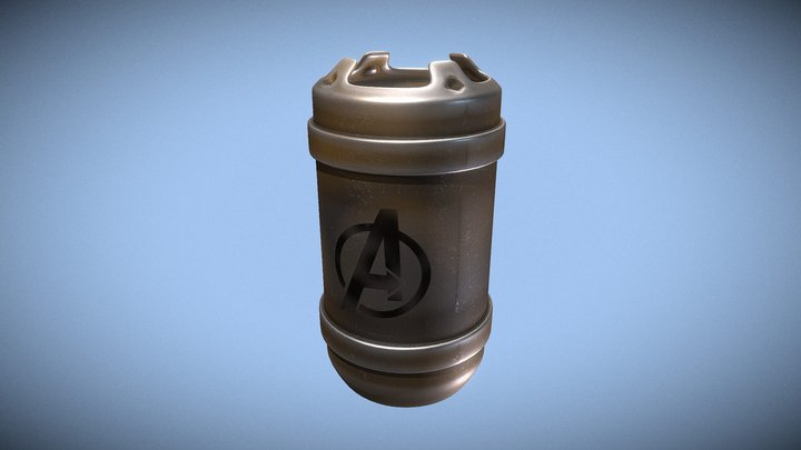 Used engine shell 3D Model
