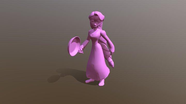 Rapunzel 3D Model