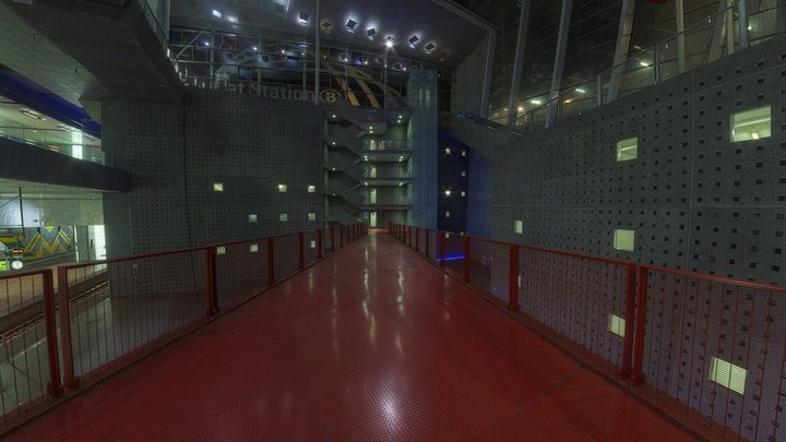 train station HDRi 02 3D Model
