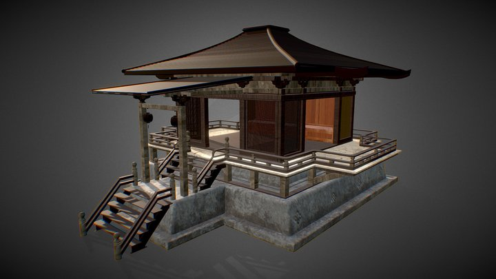 Typical asian house 3D Model