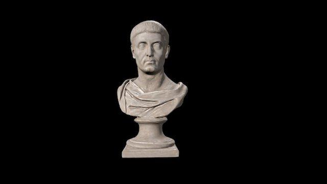 Busto masculino 3D Model