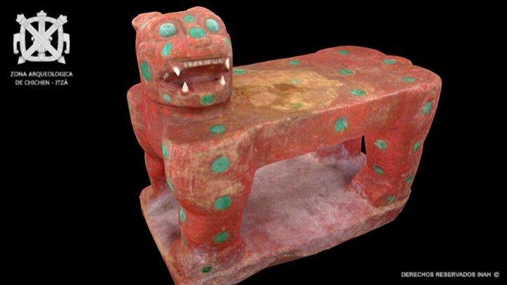 Trono de Jaguar Rojo - Castillo de Chichén-Itzá 3D Model