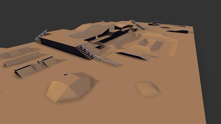Modular Skate Park 3D Model