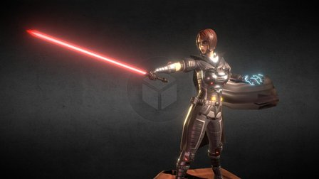 Sith Warrior Posed 3D Model