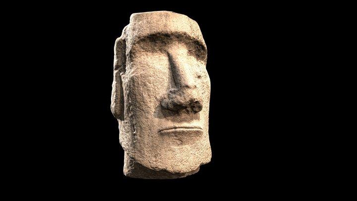 Tête monumentale de Moaï 3D Model