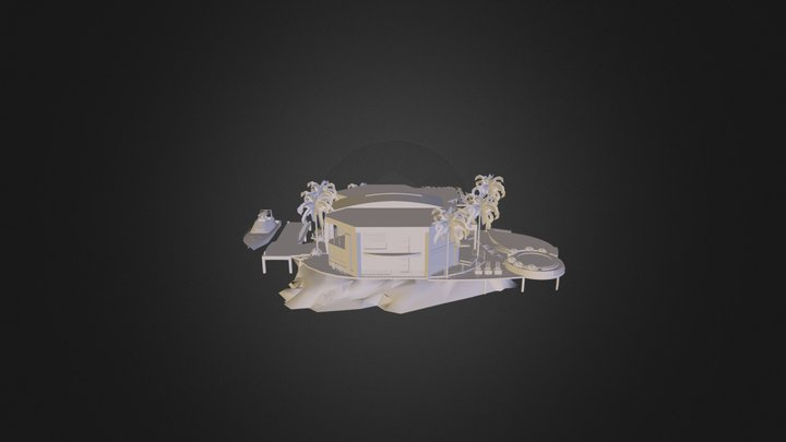House In The Sea 3D Model