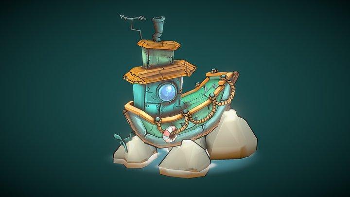 Little Boat 3D Model
