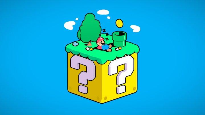Small Mario Habitat 3D Model