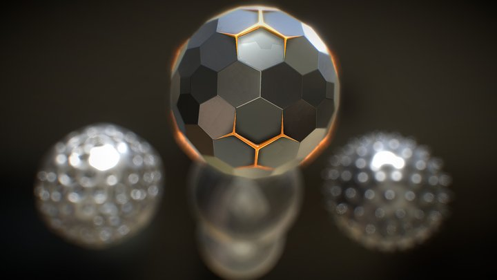 Abstract Spherical Objects - Five 3D Models 3D Model