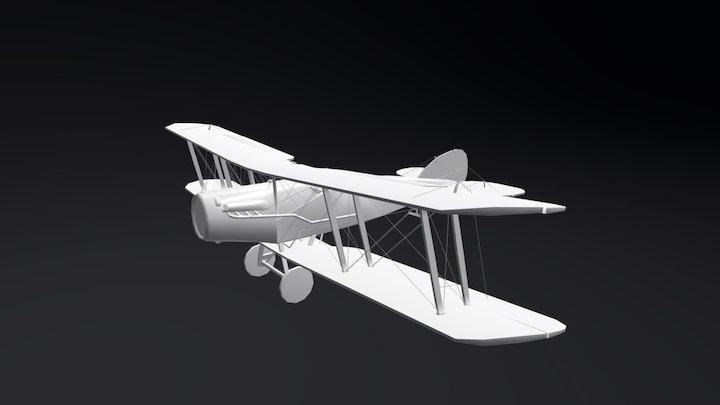 Bristol F.2B - First World War Airplane 3D Model