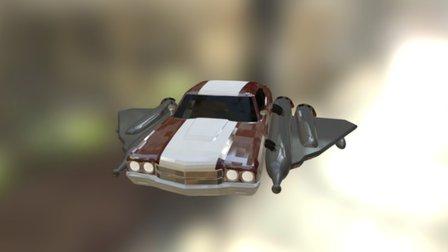 Groovy Rocket 3D Model