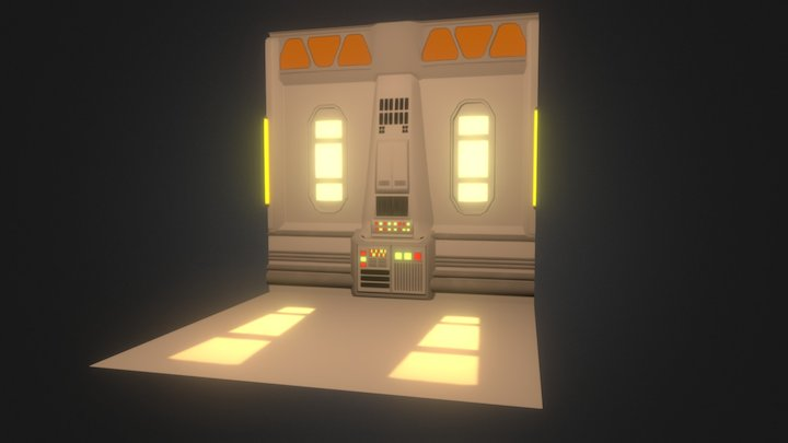 Sci-Fi Wall (Tantive 4/Bespin inspired) 3D Model