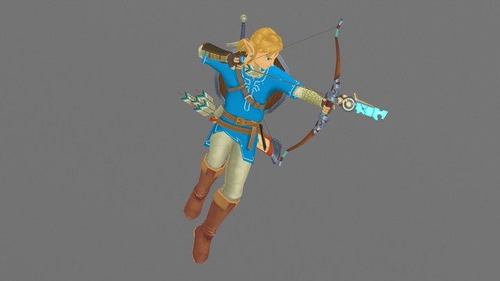 Link - The Legend of Zelda Breath of the Wild 3D Model
