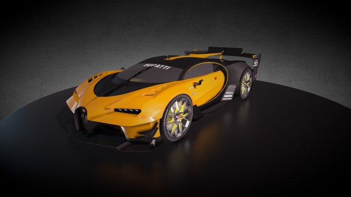 Bugatti Chiron(Game car) 3D Model
