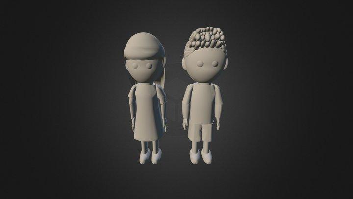 Limbo Children 3D Model