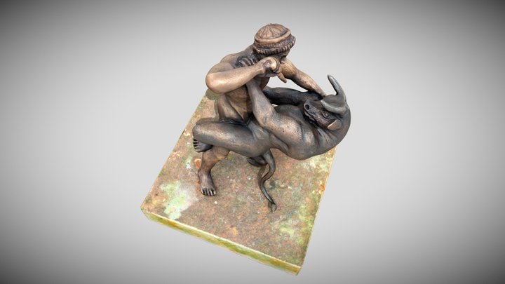 Fight between Theseus and the Minotaur 3D Model