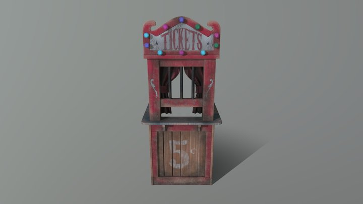 1940's Horror Ticket Booth 3D Model
