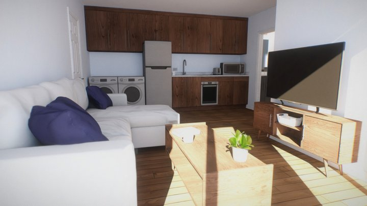 Modern High-Rise Apartment (VR Scaled) 3D Model