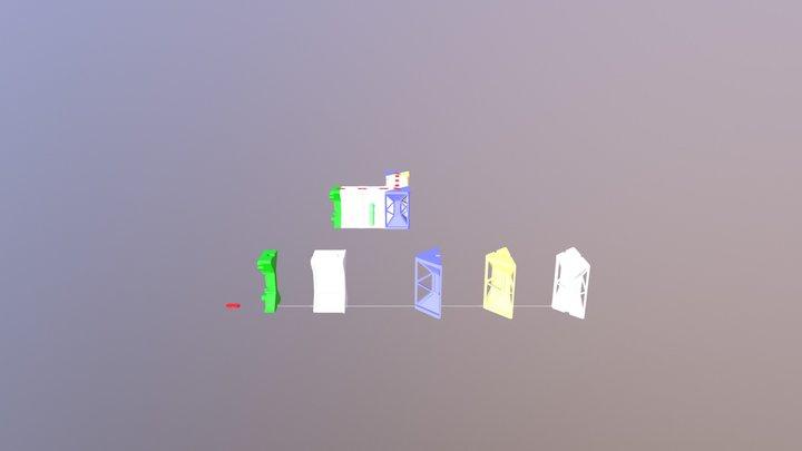 3D printable sci-fi corridor sample 3D Model