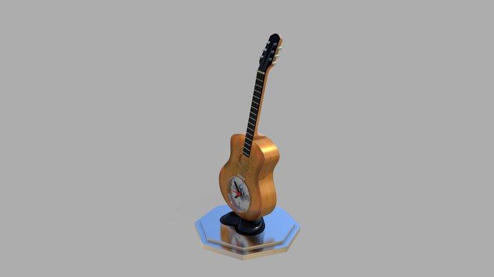 GUITAR ALARM CLOCK 3D Model