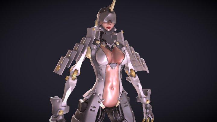 Cyborg Sam 3D Model