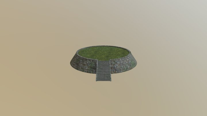 Temple Grounds 3D Model