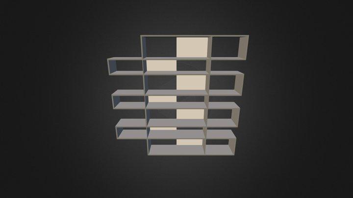 Bookcase 3D-007 3D Model