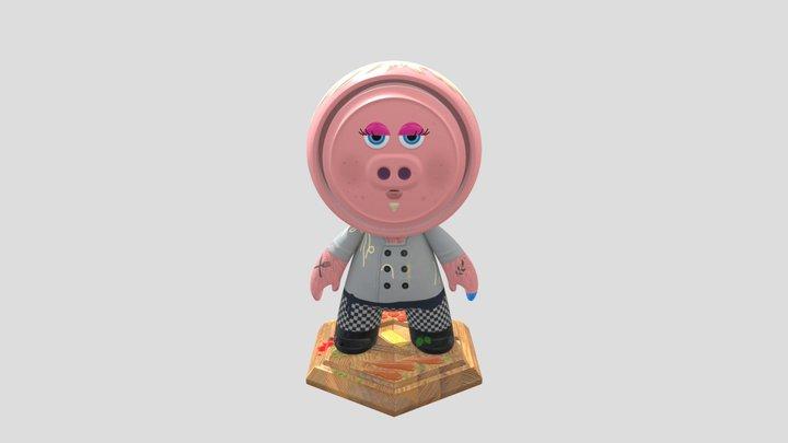 Disgruntled Chef 3D Model