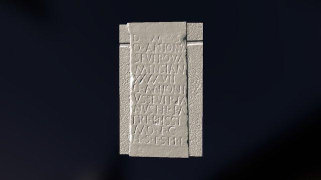 Inscripción Salvatierra de los Barros (Badajoz) 3D Model