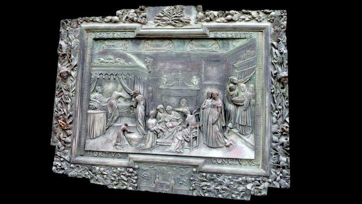 Relief bronze door of Pisa Cathedral 3D Model