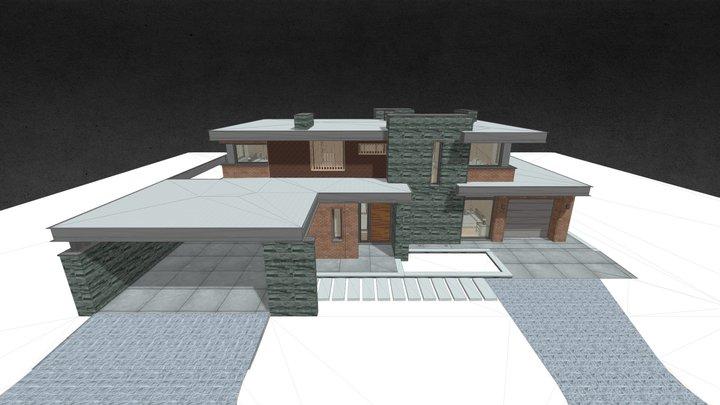 Дом в стесненных условиях сущ. застройки 3D Model