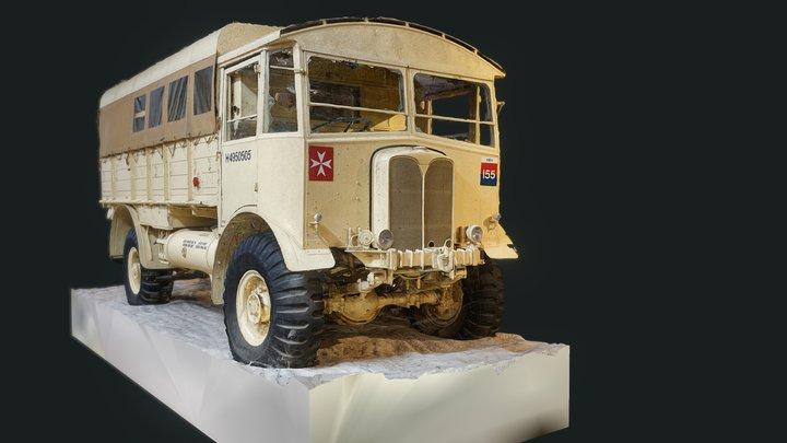 British AEC Matador Medium Artillery Tractor 3D Model