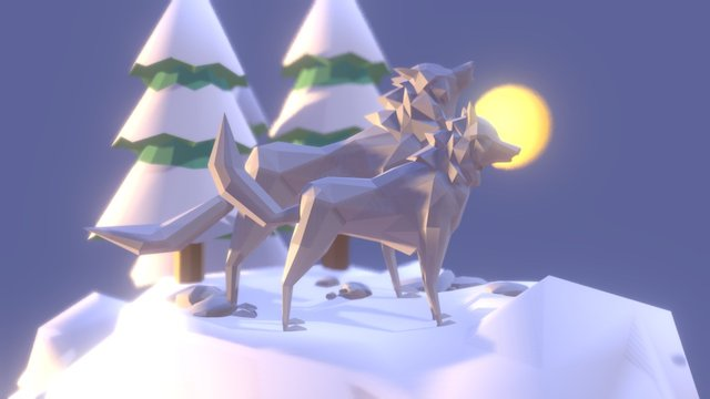 Wolf's winter 3D Model