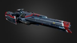 Blackbird Battlecruiser 3D Model