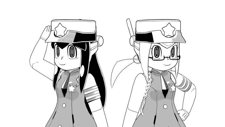 おいでませりのロボ婦警 3D Model
