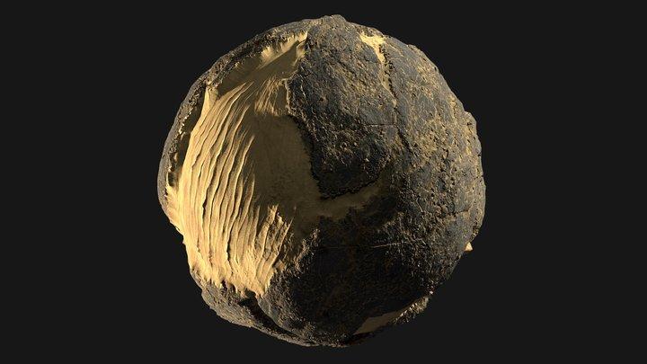 Procedural Desert Rocks Material Study 3D Model