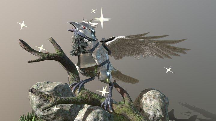 Shiny Corviknight 3D Model