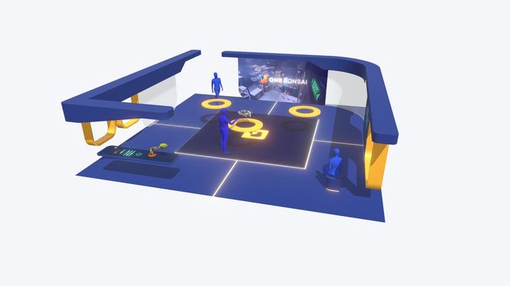 Virtual Booth 3D Model