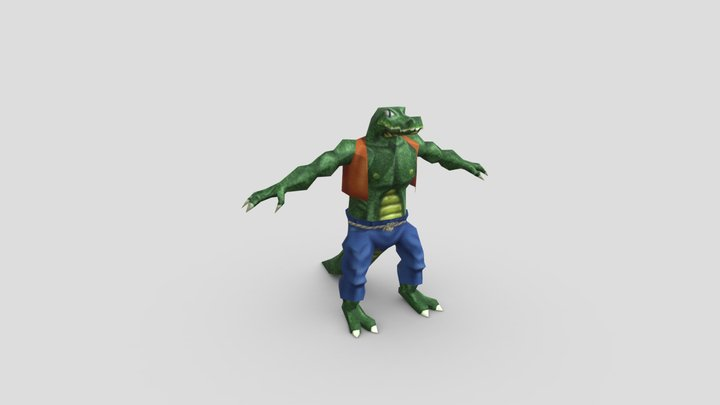 Fenton (alligator / man hybrid) 3D Model