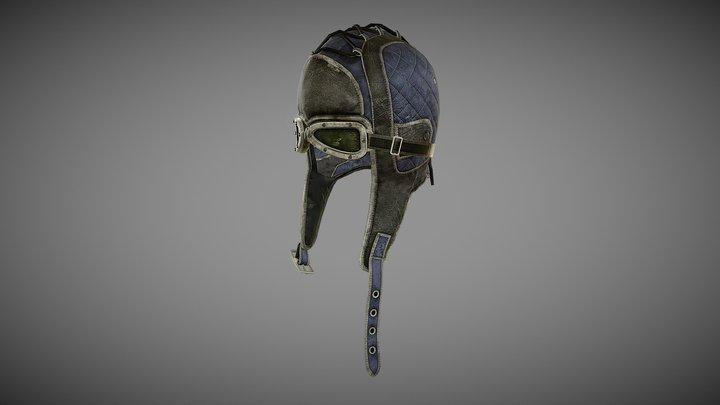 Aviator Helmet With Goggles 3D Model