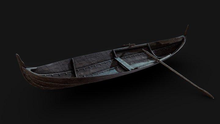 Årby Viking Rowboat 3D Model