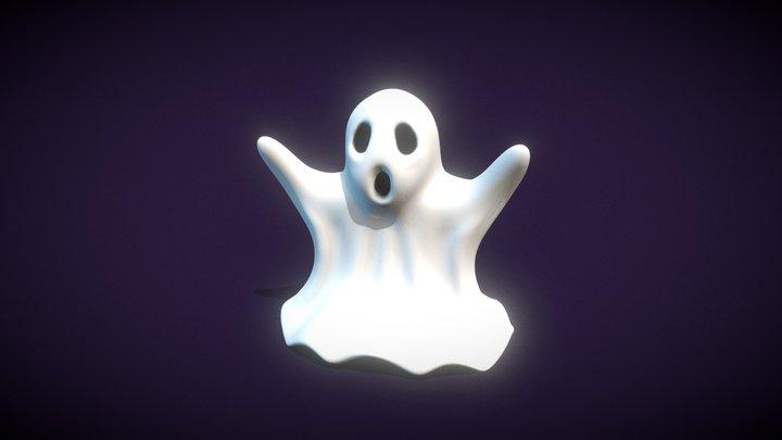 Simple Ghost Sculpture 3D Model
